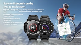 No.1 F7 Smartwatch - GPS, Bluetooth 4.2, Heart Rate, Pedometer, Sleep Monitor, Call Alert, IP67 Waterproof Black