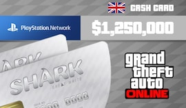 Grand Theft Auto Online: Great White Shark Cash Card 1 250 000 PS4 PSN Key UNITED KINGDOM