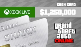 Grand Theft Auto Online: Great White Shark Cash Card 1 250 000 Xbox Live Key GLOBAL