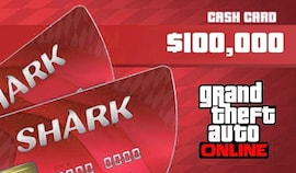 Grand Theft Auto Online: The Red Shark Cash Card 100 000 PC Rockstar Code GLOBAL