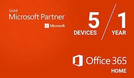 Microsoft Office 365 Family (PC/Mac) - (6 Devices, 1 Year) - Microsoft Key - EUROPE