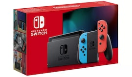 Neon Nintendo switch with improved battery 32GB Multi-Colored 32 GB Standard
