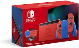 NINTENDO SWITCH CONSOLE - BLUE & RED MARIO 3D WORLDS & BOWSERS FURY EDITION Multi-Colored 32 GB Standard