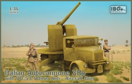IBG Models 35063 1:35 Italian Autocannone 3Ro with 90/53 90mm Anti-Aircraft Gun
