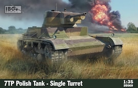 IBG Models 35069 1:35 7TP Polish Tank Single Turret