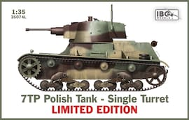 IBG Models 35074L 1:35 7TP Polish Tank Single Turret Limited Edition
