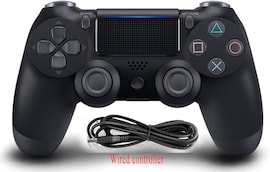 PS4 Wired Controller Dual Shock 4 Gamepad For Sony Playstation 4 Black Black