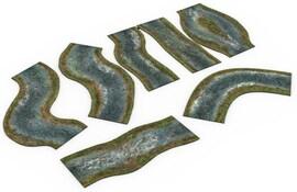 2D modular rivers set - spring Warhammer