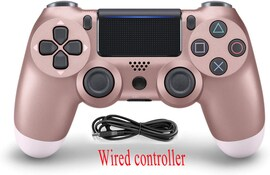 PS4 Wired Controller Dual Shock 4 Gamepad For Sony Playstation 4 Rose Gold