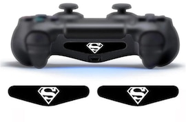2 pcs LED Skin Stickers Superman Playstation 4