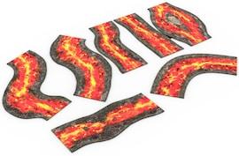 2D modular rivers set - Lava Warhammer