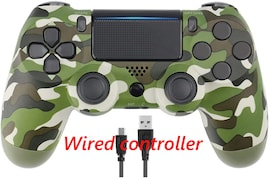 PS4 Wired Controller Dual Shock 4 Gamepad For Sony Playstation 4 Green Camouflage