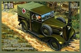 IBG Models 72010 1:72 Polish Fiat 508/III Ambulance
