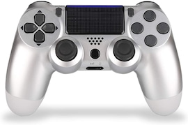 PS4 Playstation 4 Controller Console Control Double Shock 4th Bluetooth Wireless Gamepad Joystick Remote  Silver