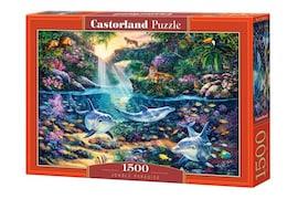 Castor Puzzle 1500 elementów Delfiny Raj w dżungli