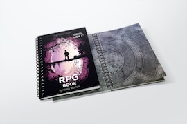 Erasable RPG book with hex grid - size: A4