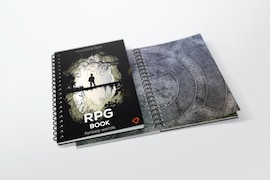 Erasable RPG book with square grid - size: A4