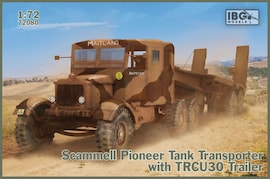 IBG Models 72080 1:72 Scammell Pioneer Tank Transporter with TRMU30 Trailer