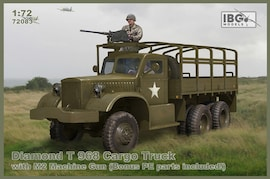 IBG Models 72083 1:72 Diamond T 968 Cargo Truck with M2 Machine Gun