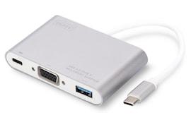 Kabel Adapter Digitus 1Xvga 1080P Fhd, 1Xusb Typ C, 1Xusb A Na Usb 3.0 Typ C