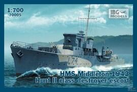 IBG Models 70010 1:700 HMS Harvester 1943 British H-class destroyer