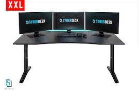 SyberDesk PRO ELITE XXL LED USB Black Gaming