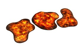 2D terrain - Burning Forest for Warhammer and other miniature games D&D