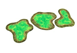 2D terrain - Toxic Pond for Warhammer and other miniature games D&D