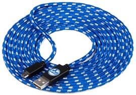 snakebyte S04 MICRO USB uniwersalny kabel do ładowania 3 m licencja Schalke 04