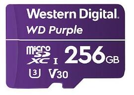 Karta Pamięci Wd Purple Wdd256G1P0A 256Gb Surveillance Microsdxc Uhs-3 U3 V30 (100/60 Mb/S)