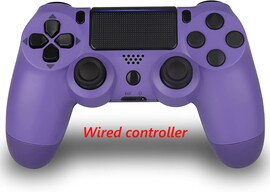 PS4 Wired Controller Dual Shock 4 Gamepad For Sony Playstation 4 Purple