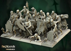 Highlands Miniatures Zombies 32mm