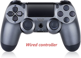 PS4 Wired Controller Dual Shock 4 Gamepad For Sony Playstation 4 Steel Black