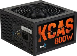 Aerocool KCAS800S - PC Gaming power supply (800W, ATX, 12V, Active PFC, 12 cm fan included)