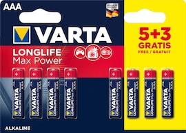 Baterie Varta Longlife Max Power Aaa 1.5V 8 (5+3) Szt