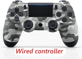 PS4 Wired Controller Dual Shock 4 Gamepad For Sony Playstation 4 Gray Camouflage