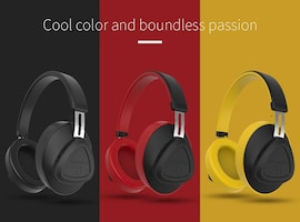 Bluedio TMS Wireless Headphone with Microphone Monitor Studio Bluetooth Headset Voice Control for Music  Red N/A