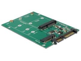Adapter Sata 22-Pin (M) - M.2 Ngff Key B 67-Pin + Msata Combo