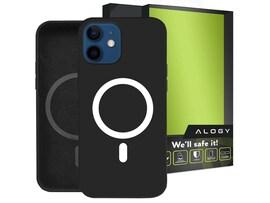 Etui do MagSafe Alogy do ładowarek Qi do iPhone 12 Mini Czarne