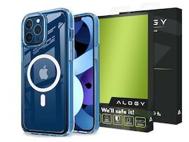 Etui do MagSafe Alogy do ładowarek Qi do iPhone 12 Mini Przezroczyste