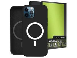 Etui do MagSafe Alogy do ładowarek Qi do iPhone 12 Pro Max Czarne