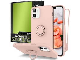 Etui silikonowe Ring Ultra Slim Alogy do iPhone 12 Mini 5.4 Różowe