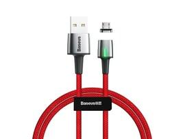 Kabel magnetyczny micro USB Baseus 1m czerwony