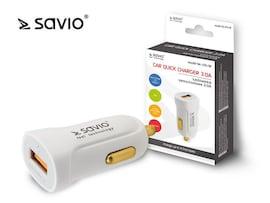 Ładowarka Samochodowa Savio Sa-05/W Quick Charge 3.0, Biała