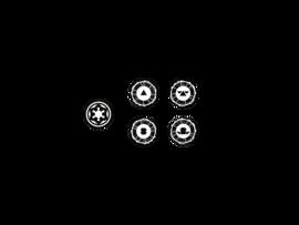 Micro Art - SW Legion Znaczniki Oddziałów (4 czarne)