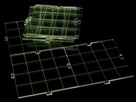RPG dry erase acrylic modular board, transparent
