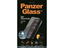 Szkło Hartowane Panzerglass Do Iphone 12 Pro Max Antybakteryjne Czarny Do Etui