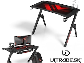 ULTRADESK ACTION gaming desk 110 x 59 cm biurko 18mm Black Mat Gaming