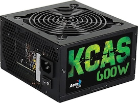 Aerocool KCAS600S - PC Gaming power supply (600W, ATX, 12V, Active PFC, 12 cm fan included)