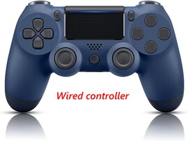 PS4 Wired Controller Dual Shock 4 Gamepad For Sony Playstation 4 Midnight Blue